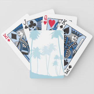 Blue Palm Trees Bicycle Playing Cards