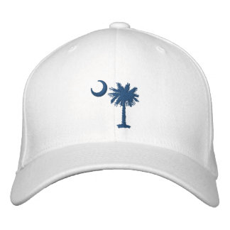 Blue Palmetto Embroidered Hat