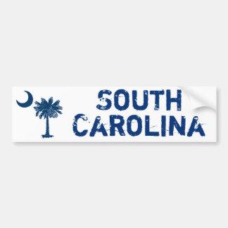 Blue Palmetto South Carolina Bumper Sticker Car Bumper Sticker