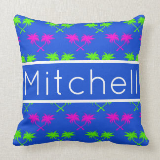 Blue Palms Personalized Throw Pillow