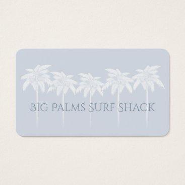 Beach Themed Blue Palms Silhouettes Business Card