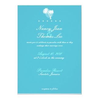 Blue Palms Wedding Invitation