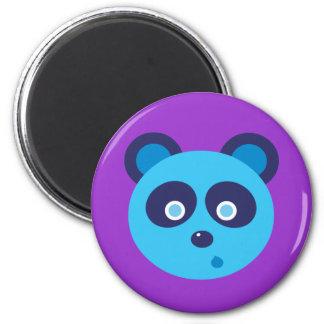 Blue Panda 2 Inch Round Magnet
