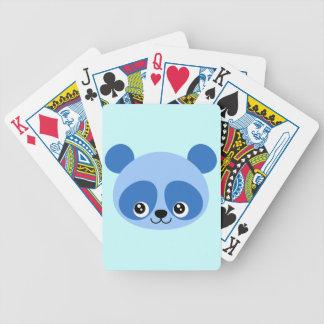 Blue Panda Bicycle Playing Cards