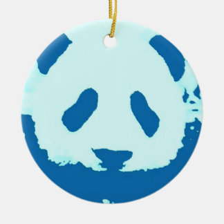 Blue Panda Christmas Tree Ornament