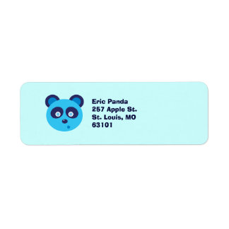 Blue Panda Return Address Label