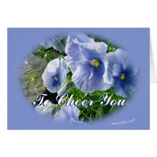 Blue Pansies-customize any occasion