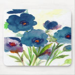Blue pansies mousepads