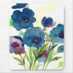 Blue pansies mousepads