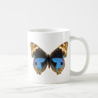 Blue Pansy Butterfly Coffee Mug