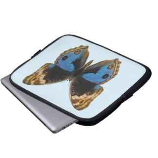 Blue Pansy Butterfly Laptop Sleeve