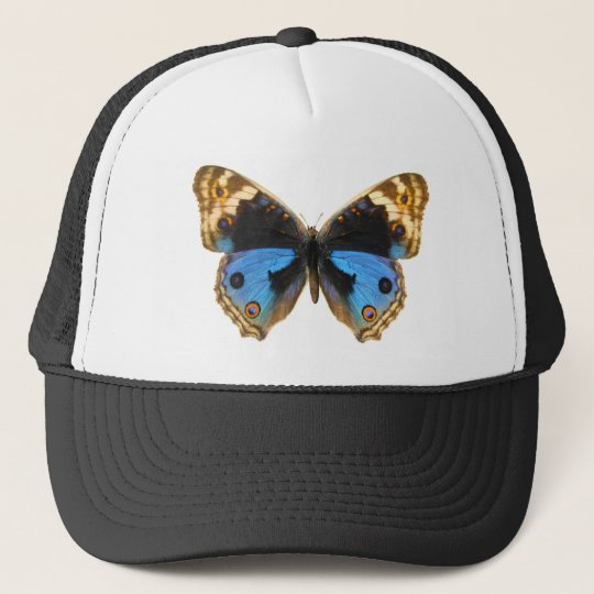 Blue Pansy Butterfly Trucker Hat