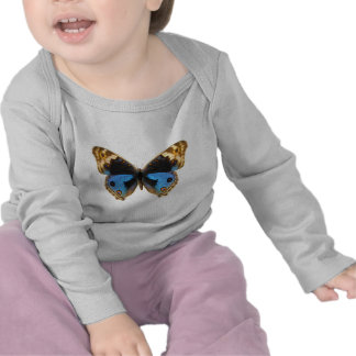 Blue Pansy Butterfly Tee Shirt