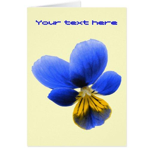 Blue Pansy Custom Greeting Card