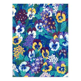 Blue Pansy Design Postcard