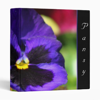 Blue Pansy Flower Binder