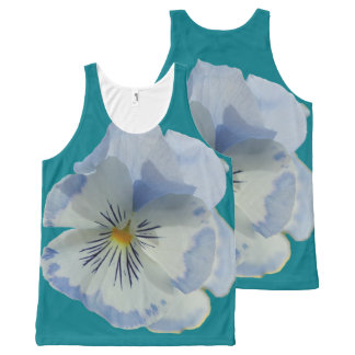 Blue Pansy Flower Top