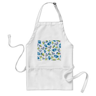 Blue Pansy Flowers floral pattern Adult Apron