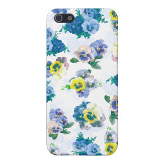 Blue Pansy Flowers floral pattern iPhone 5 Covers