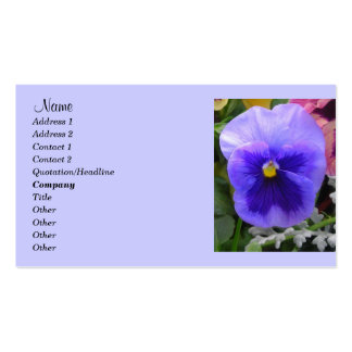 Blue Pansy,Gardeners Business card