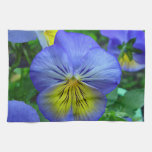 Blue Pansy Hand Towels