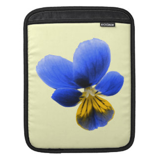 Blue Pansy IPad Sleeve