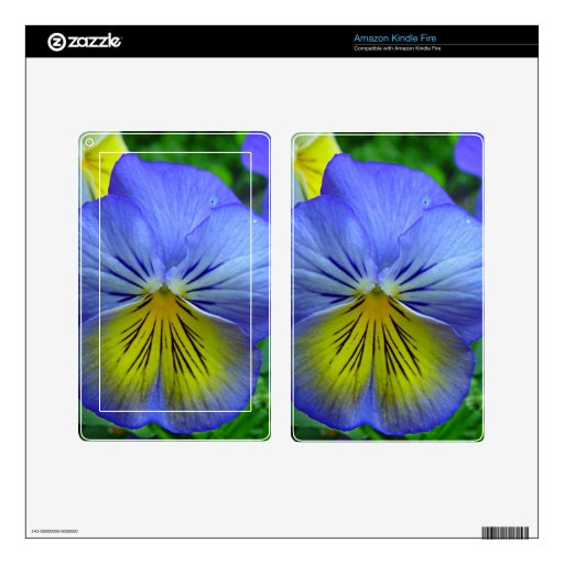 Blue Pansy Kindle Fire Decals