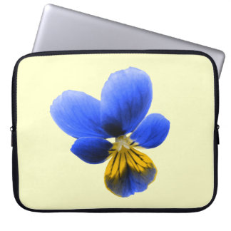 Blue Pansy Laptop Bag
