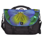 Blue Pansy Laptop Commuter Bag