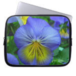 Blue Pansy Laptop Sleeves