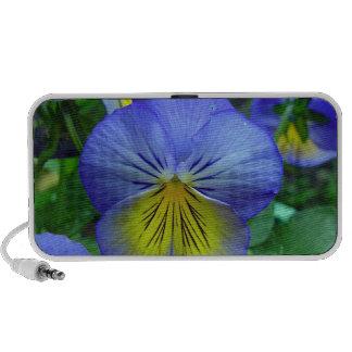 Blue Pansy Laptop Speaker