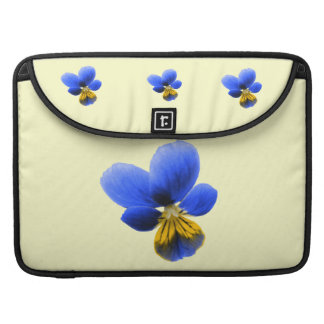 Blue Pansy MacBook Pro Sleeve