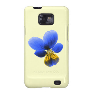 Blue Pansy Samsung Galaxy S Case Galaxy S2 Cases