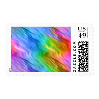 Blue Pansy Wavy Texture Postage