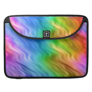 Blue Pansy Wavy Texture Sleeve For MacBook Pro