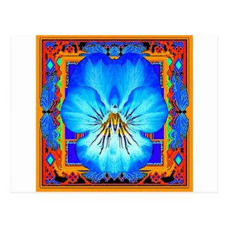 Blue Pansy Western Art Design Postcard