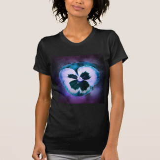 Blue Pansy With Water Droplets T Shirt