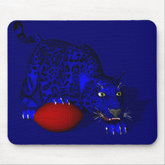 Blue Panther Mouse Pad