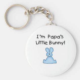 Blue Papa's  Little Bunny T-shirts and Gifts Keychain