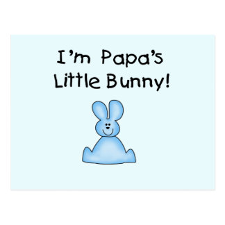 Blue Papa's  Little Bunny T-shirts and Gifts Postcard