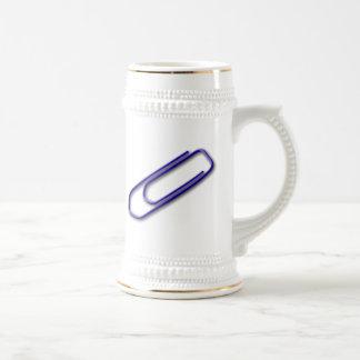 Blue Paper Clip Beer Stein