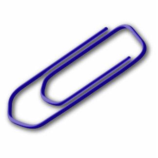Blue Paper Clip Acrylic Cut Out