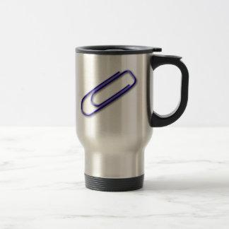 Blue Paper Clip Travel Mug