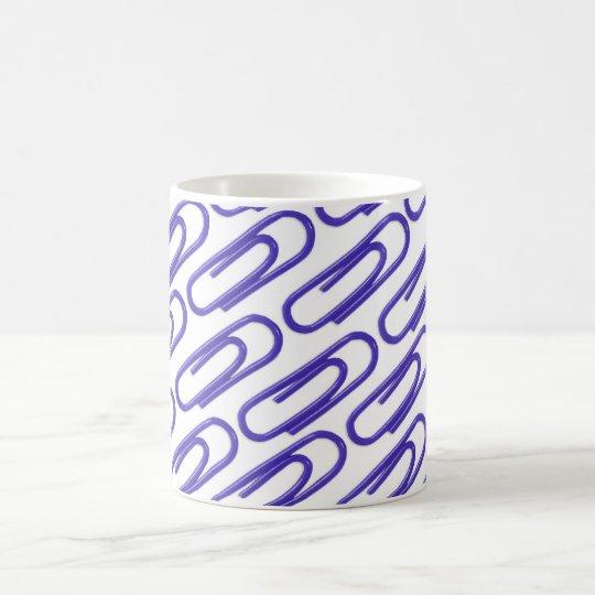 Blue Paper Clips Mug