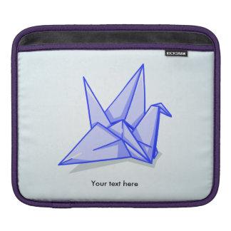 Blue Paper Crane iPad Sleeve