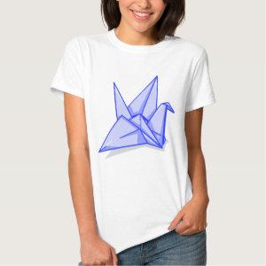 Blue Paper Crane Shirt