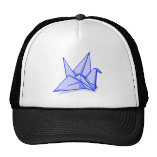 Blue Paper Crane Trucker Hat