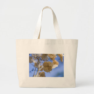 Blue Paper Flower Tote Bags
