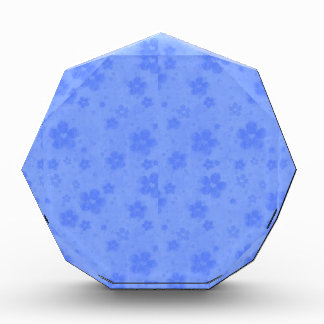 Blue paper flowers acrylic award