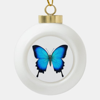 Blue Papilio Ulysses Butterfly Holiday Ornament